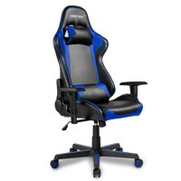Gaming Desk Chair, Ergonomic Computer Chair with Arms, PU Leather Executive Swivel Desk Office Chair, Adjustable Recliner Professional Video Game Racing Chair with Headrest and Lumbar Support, I9511