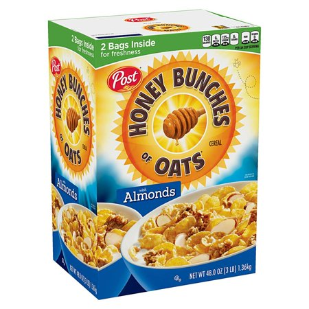 Product of Post Honey Bunches of Oats with Almonds, 48 oz. [Biz