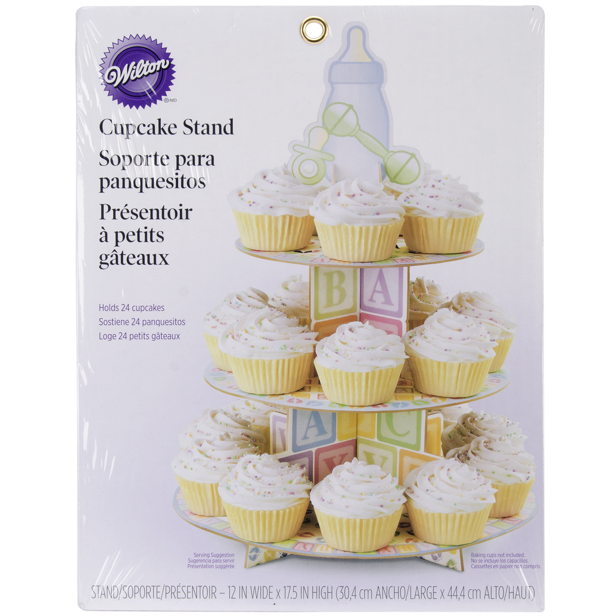 """Treat Stand-Baby Feet 12""""X17.5"""" Holds 24 Cupcakes - image 1 de 1"""