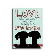 Artehouse LLC Love Is Not Planked by Ginger Oliphant Graphic Art Plaque