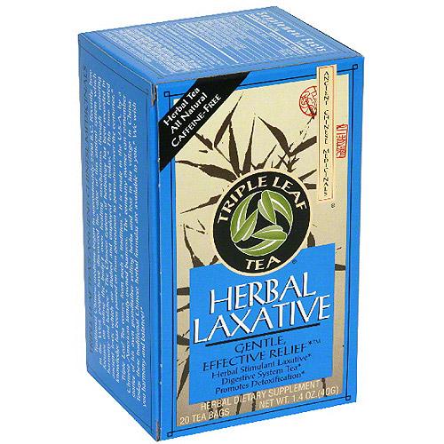 Triple Tea Leaf Herbal Laxative Tea, 1.4 oz (Pack of 6)