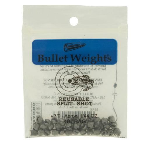 Bullet Weights® Reusable Split Shot, #3/0, 40 sinkers