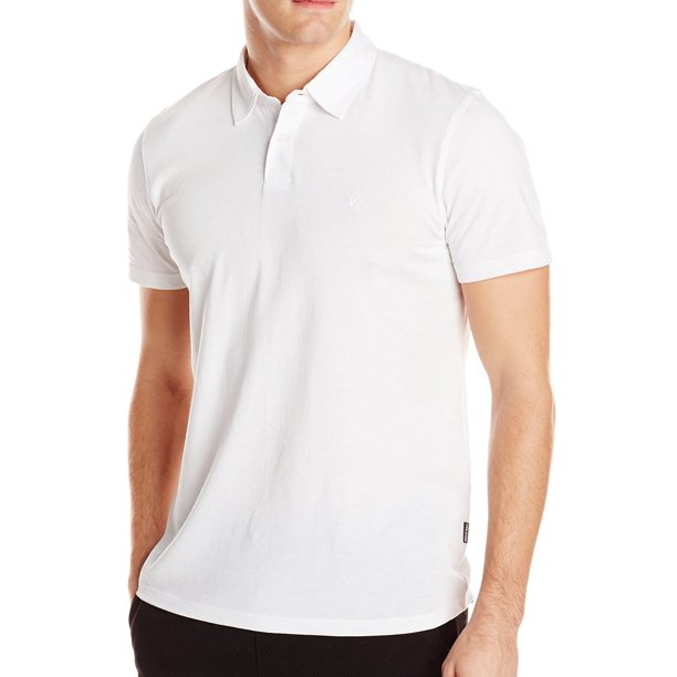Volcom NEW White Mens Size Medium M Two-Button Pull-Over Polo Shirt
