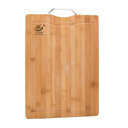 THY COLLECTIBLES Organic Bamboo Cutting Board w/ Juice Groove - Kitchen Chopping Board for Meat Cheese Fruit and Vegetables | Anti Microbial Heavy Duty Serving Tray w/ Handle 16