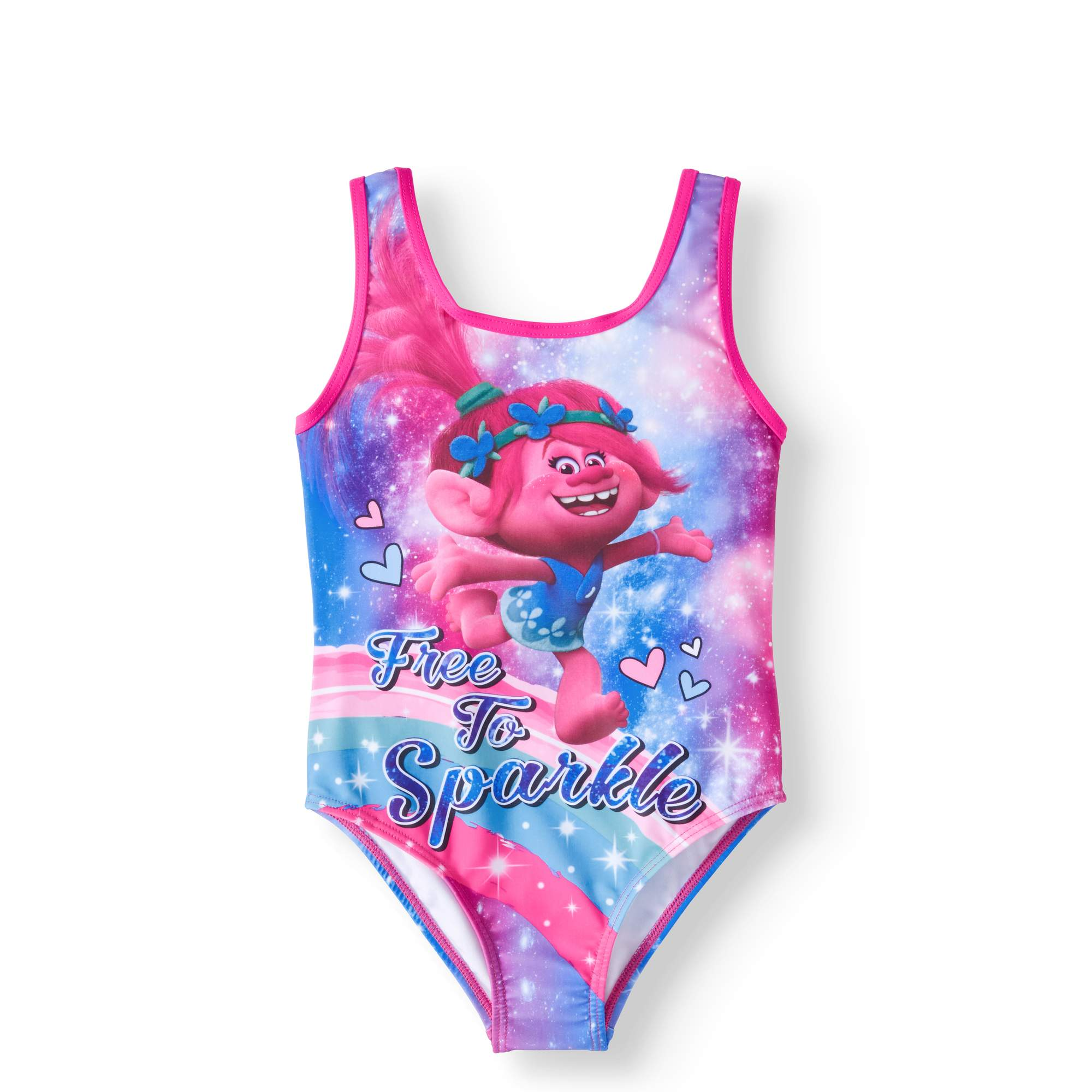 LIttle Girls' 4-6X Sparkle Graphic One-Piece Swimsuit