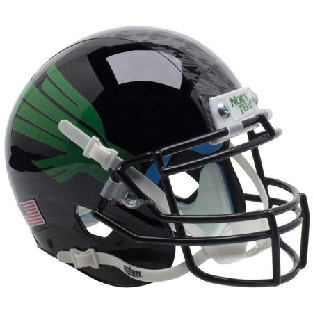 North Texas Football - Schutt Authentic North Texas Mean Green Eagle Black XP Football Helmet