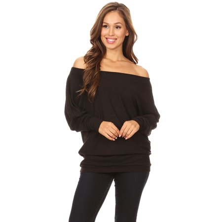 56f7fa61108 Casual Women s Off Shoulder Ribbed Knit Oversized Cardigan Pullover Tops  Sweater Shirts