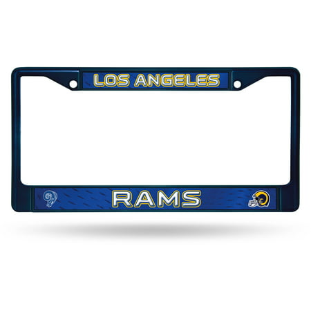 Rico Industries NFL Color License Plate Frame, Los Angeles (Blue Laser License Plate)