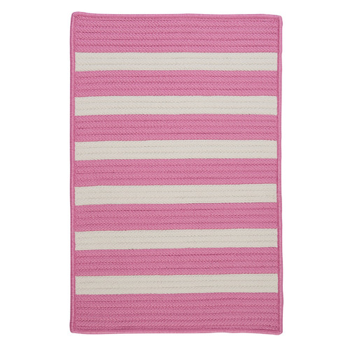 Colonial Mills Stripe It Bold Pink Indoor/Outdoor Area Rug