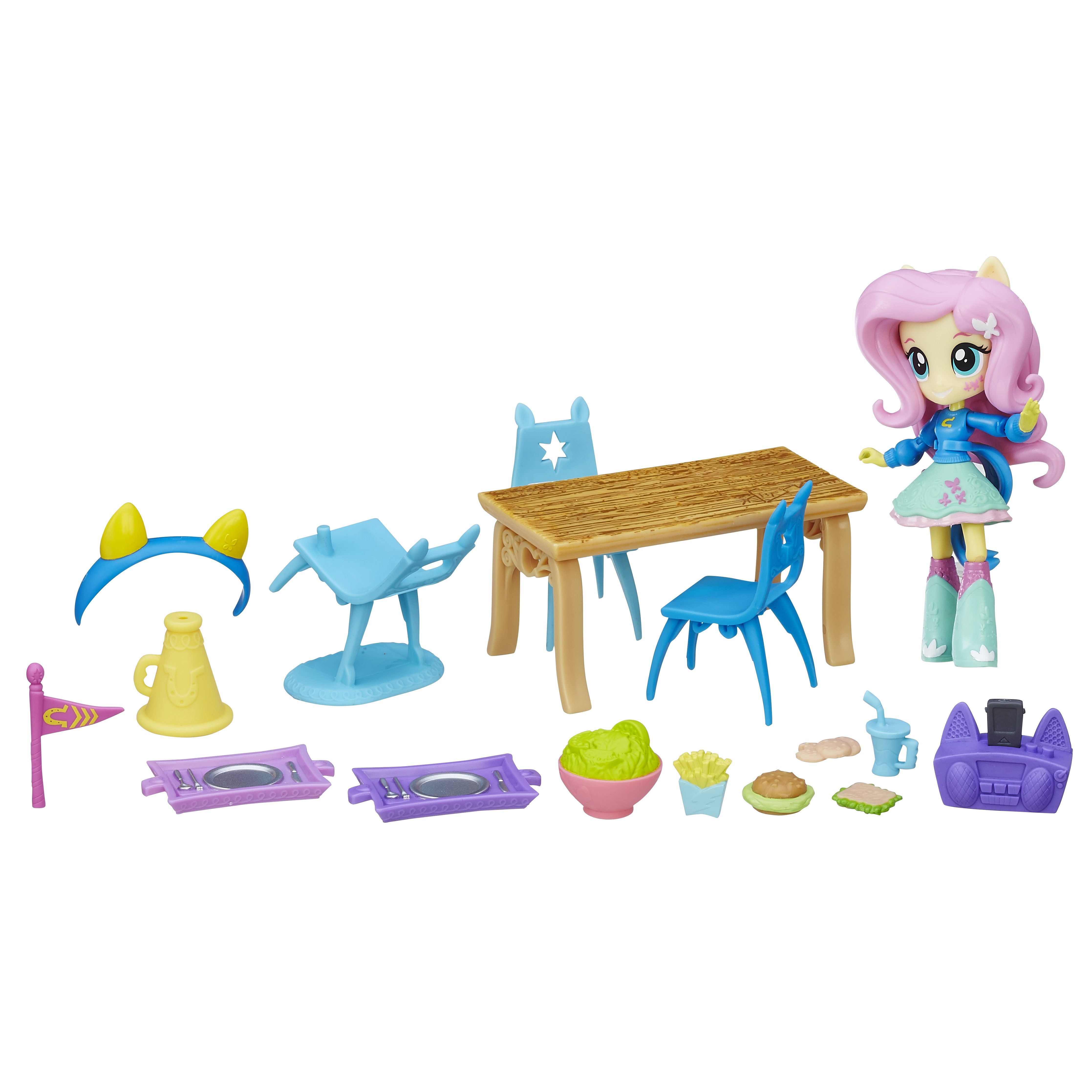 My Little Pony Equestria Girls Minis Fluttershy School Cafeteria Set by Hasbro