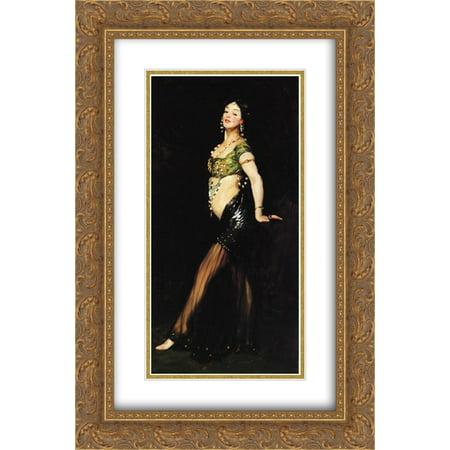 Robert Henri 2x Matted 16x24 Gold Ornate Framed Art Print Salome