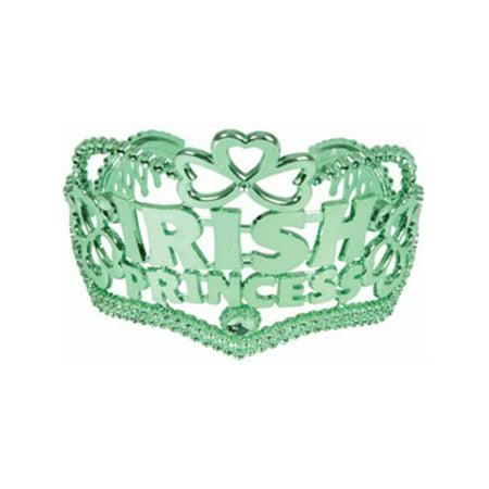 St. Patricks Day Irish Princess Green Tiara Crown Hat