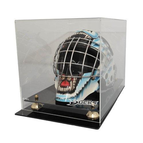 Caseworks International NHL Goalie Mask Display Case with Gold Risers