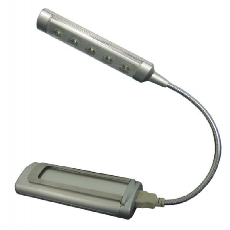 Ritelite LPL792XLB Wireless 5-LED Touch-On USB/Battery-Operated Computer/Book Light