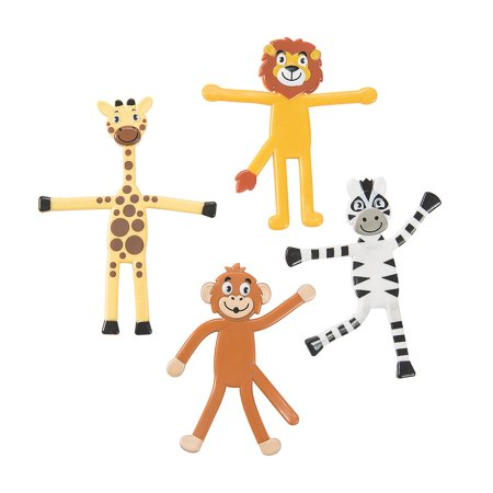 Fun Express - Zoo Animal Bendable - Toys - Character Toys - Bendables - 24 Pieces Zoo Animal Bendable - Toys - Character Toys - Bendables - 24 Pieces