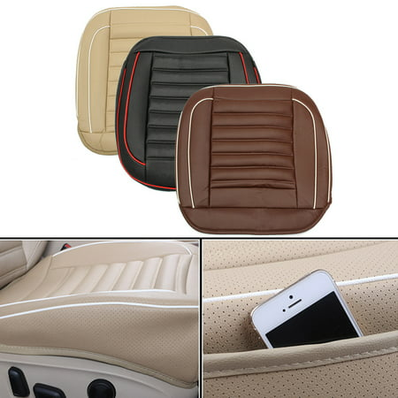 Grtsunsea 20''x20''x5'' Universal PU Car Seat Cushion Leather Auto Car Seat Cover Cushion Protector Pad Mat Waterproof
