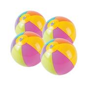 """Bright Beach Mini 5"""" Beach Balls - Party Favors - 12 Pieces"""