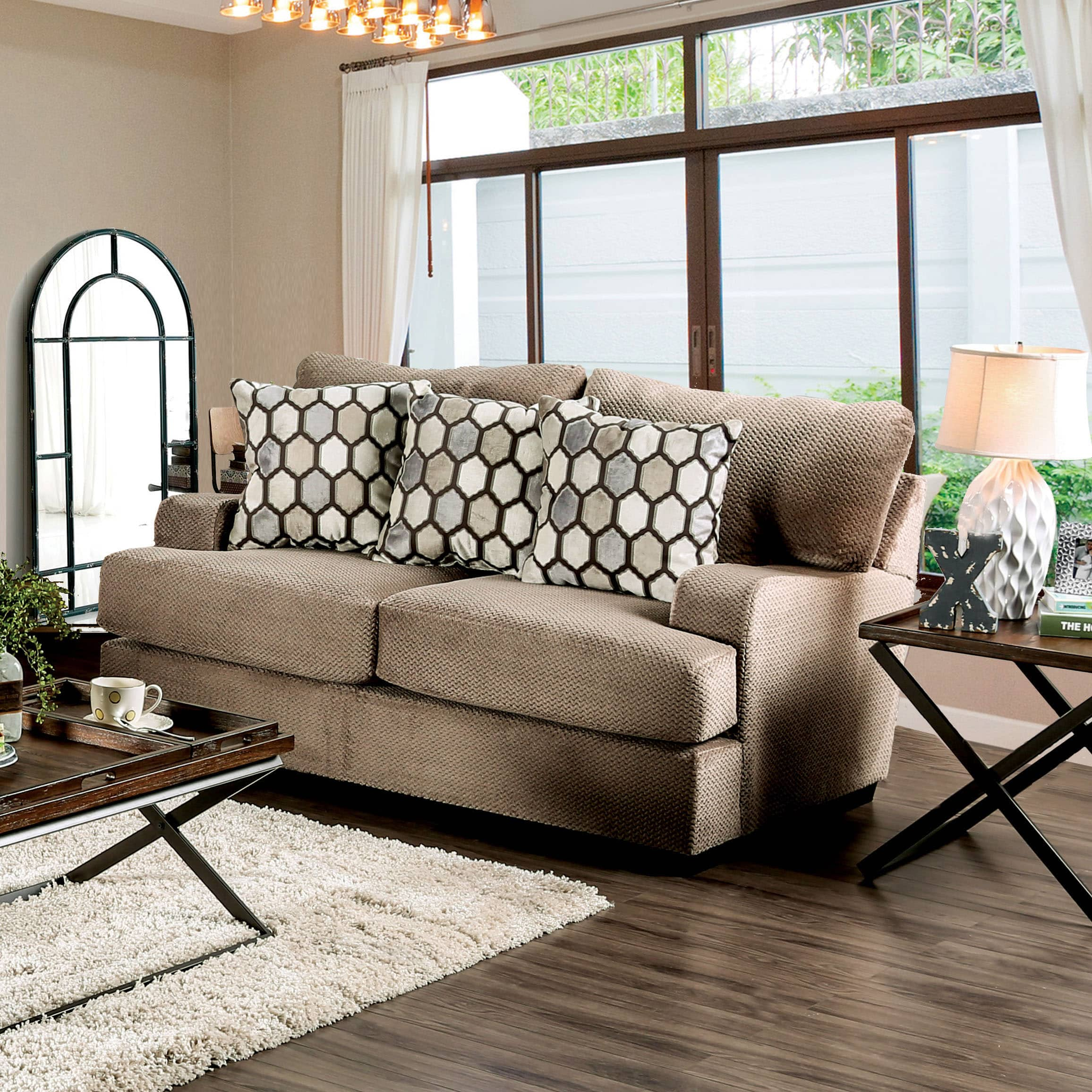 Furniture of America Sheila Transitional Modern English S...