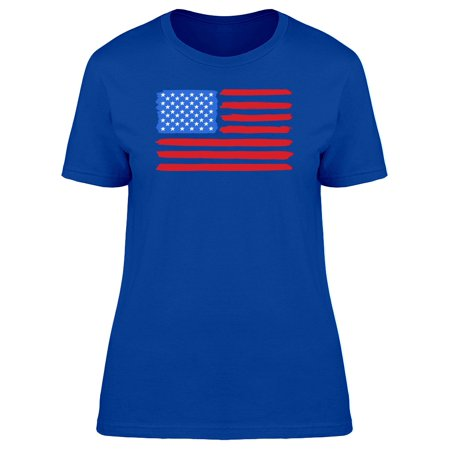 Cool Usa National Flag Doodle Tee Women's -Image by Shutterstock