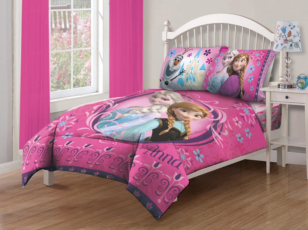 Merveilleux Disney Frozen Nordic Florals Comforter Set With Fitted Sheet   Walmart.com