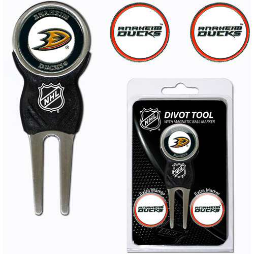 Team Golf NHL Anaheim Ducks Divot Tool Pack With 3 Golf Ball Markers