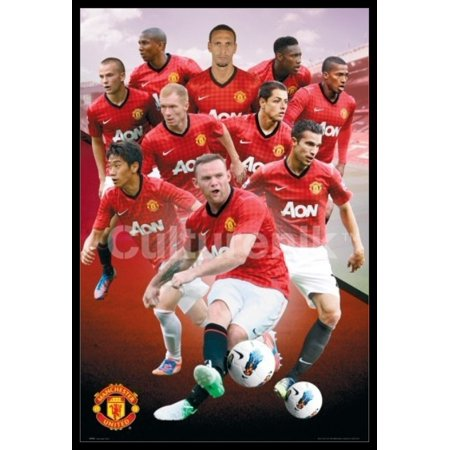 Manchester United Players 1213 Laminated & Framed Poster (36 X 24)