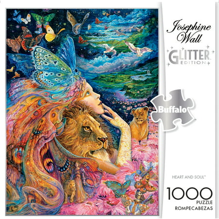 Buffalo Games Josephine Wall Heart and Soul 1000 Piece Jigsaw - Puzzle Piece Heart