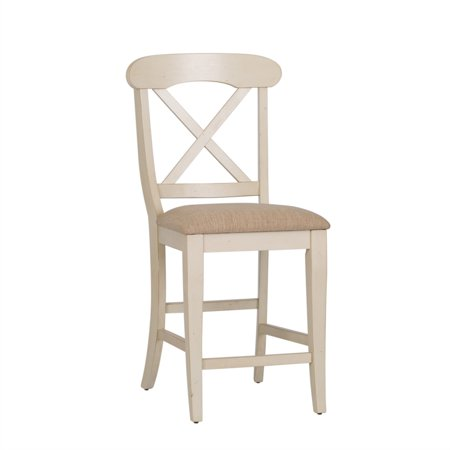 "Liberty Furniture Ocean Isle 24"" X Back Counter Stool in Bisque - image 1 de 9"