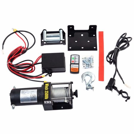 Classic 2500lbs 12V Electric Recovery Winch Truck SUV Wireless Remote Control