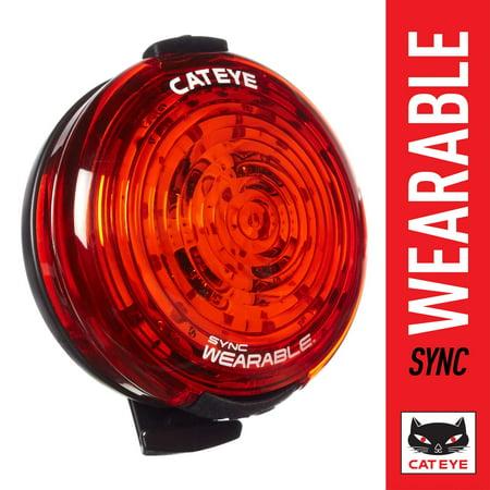 CAT EYE - SYNC Wearable High Power LED Clip On Rechargeable Bike Light, 50 Lumens Cat Eye Bike Bicycle