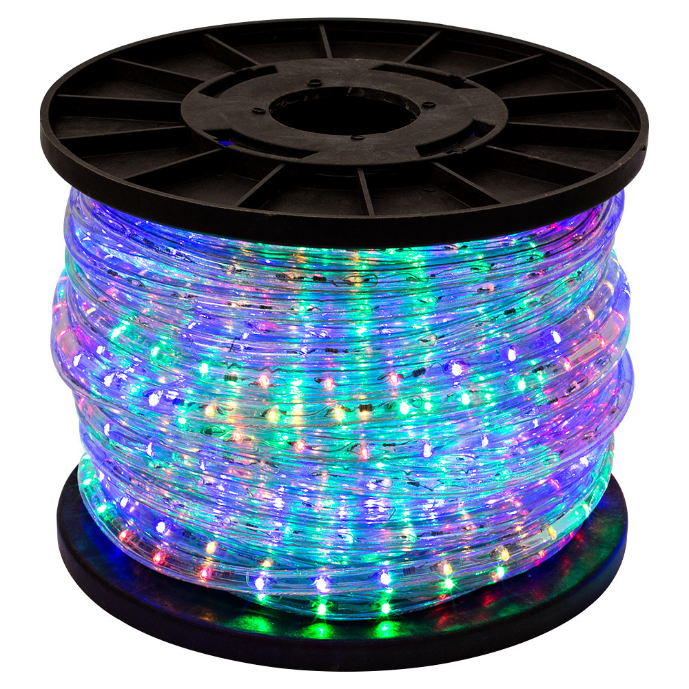 150' RGB Multi-Color 2 Wire 110V LED Rope Light Home Outdoor Christmas Lighting