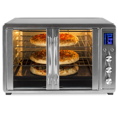 Best Choice Products 55L 1800W Extra Large Countertop Turbo Convection Toaster Oven w/ French Doors, Digital Display