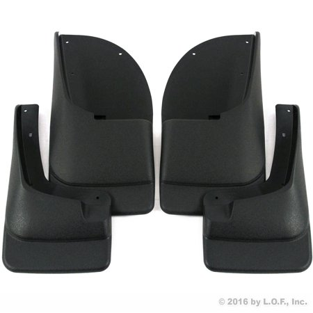 (Premium Heavy Duty Molded 1999-2007 Ford F250 F350 Mud Flaps Guards Splash Front Rear 4pc Set (Without Fender Flares))