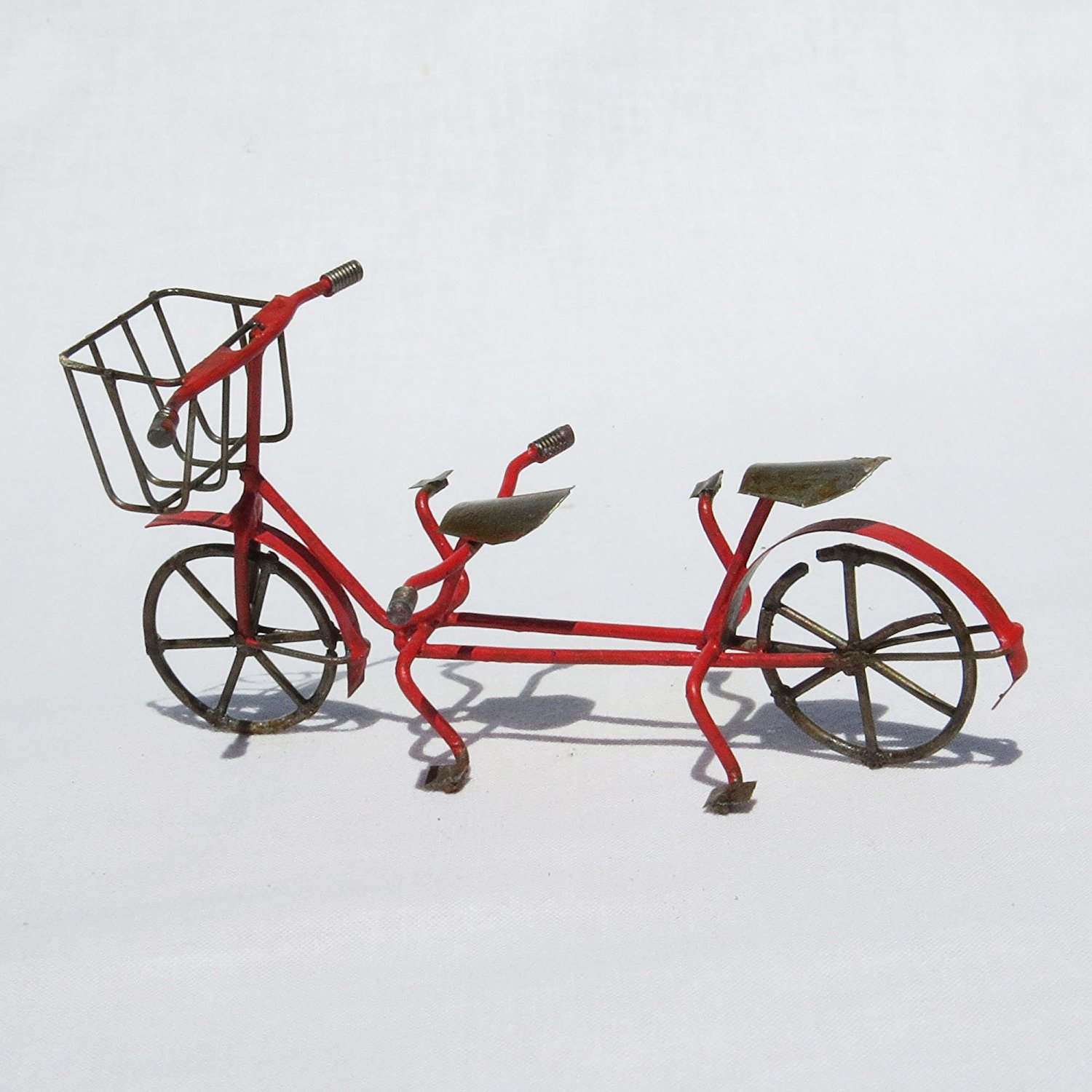 Miniature Fairy Garden Tandem Bicycle, Red, Size: 4.5 Wide x 2.5 High x 1.75 Deep By jeremie