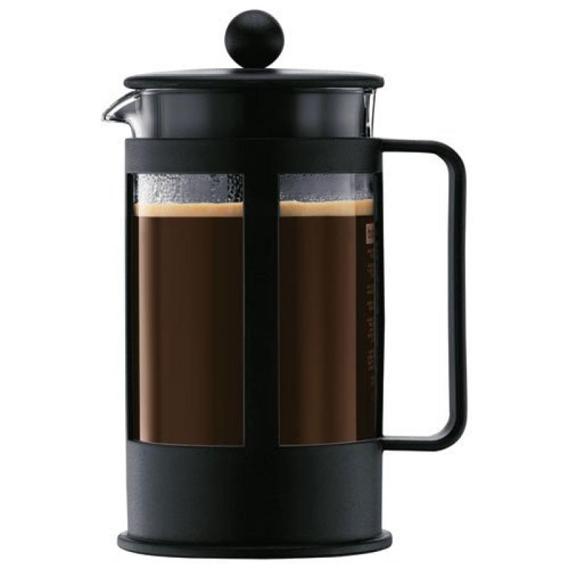 Bodum Kenya 8-Cup French Press Coffee Maker, 34-Ounce, Plastic, Black