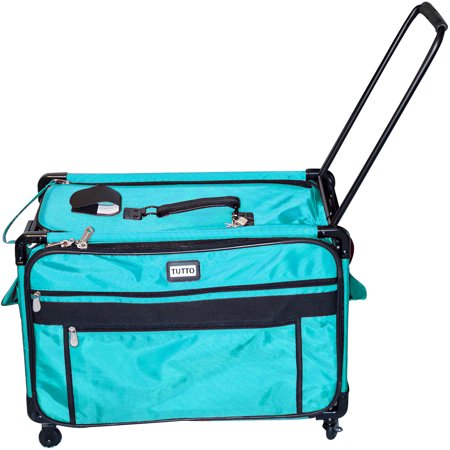 TUTTO Machine On Wheels Case, Turquoise This light, easy and functional case fits sewing machines or sergers.