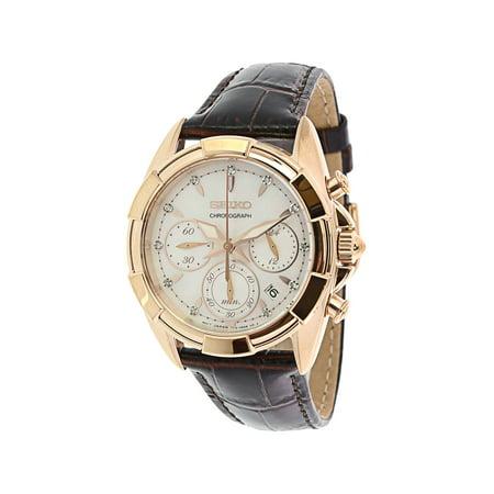 Men's SRW784 Rose-Gold Leather Japanese Quartz Fashion Watch ()
