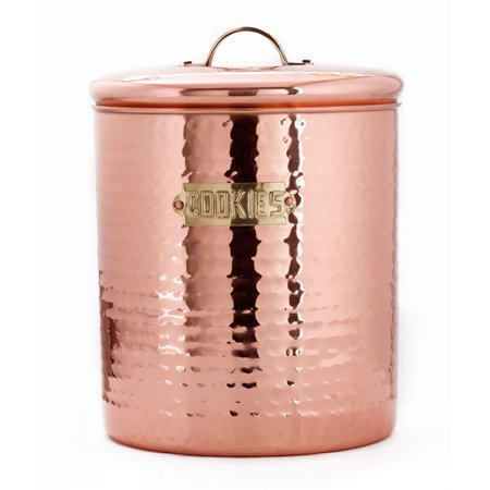 4 Qt. Hammered Décor Copper Storage Canister