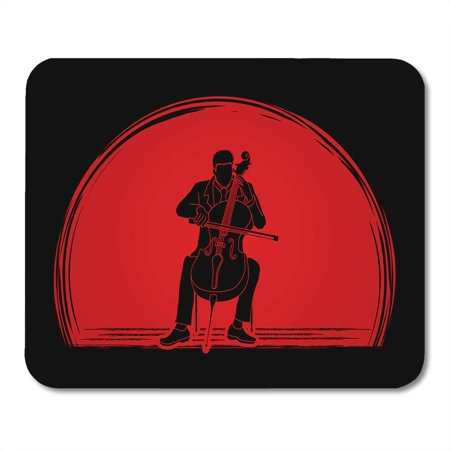 KDAGR Artist Cello Player Designed on Sunset Graphic Cellist Classic Classical Mousepad Mouse Pad Mouse Mat 9x10 inch