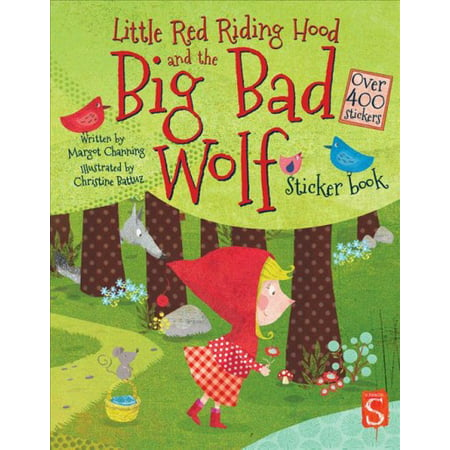 Little Red Riding Hood and the Big Bad Wolf Sticker (Little Bad Wolf And Red Riding Hood)