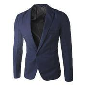 Men's Formal Suit Blazer Coat Business Casual One Button Slim Fit Jacket Tops
