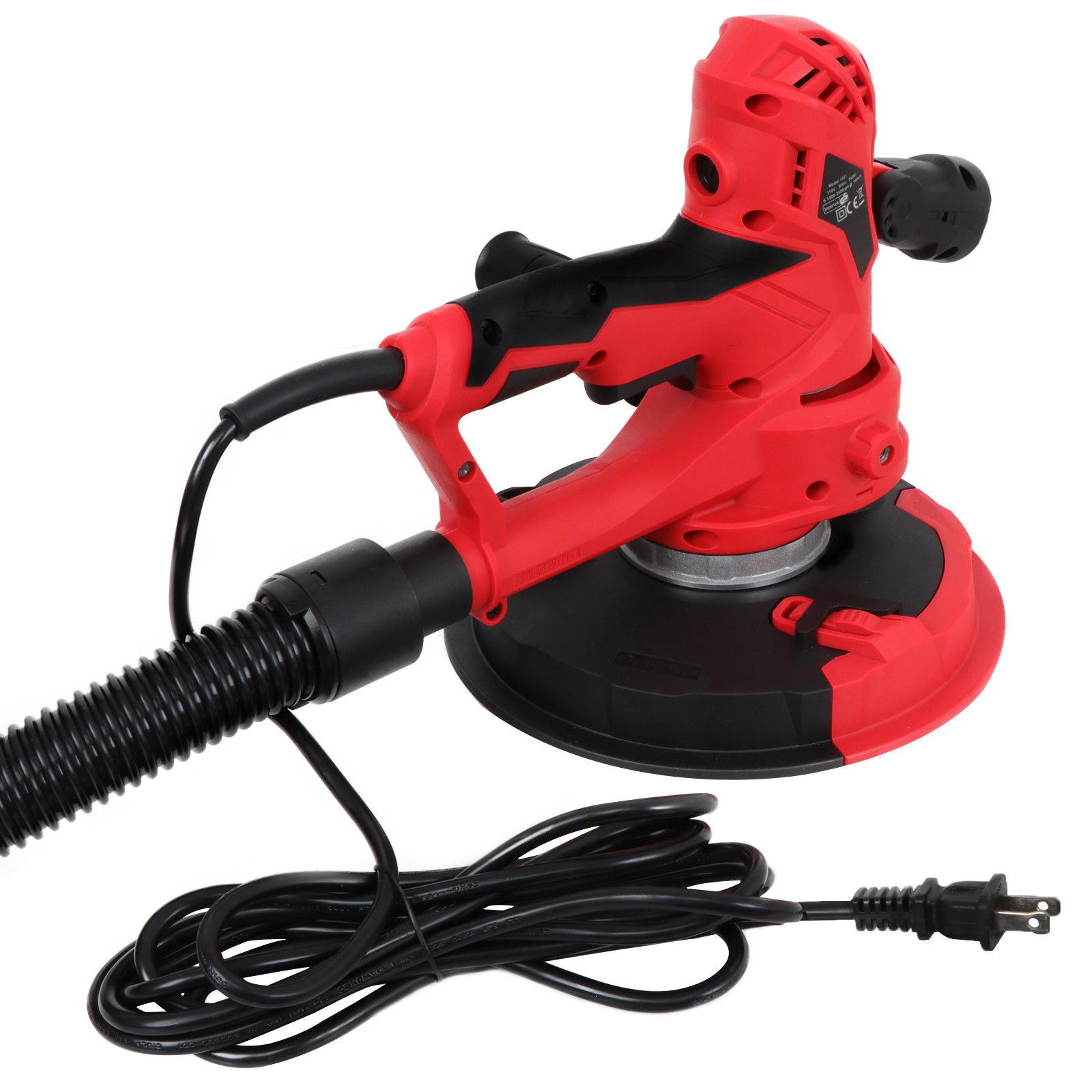 Zeny Electric HandHeld Drywall Sander 750W Variable Speed with Vacuum & LED Light New