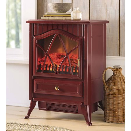 - Compact Electric Stove with Vent-free Heater, Red