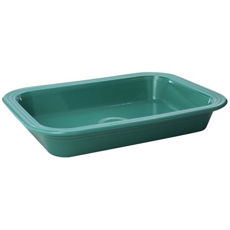 Rhythm Homer Laughlin (Fiesta 9-Inch X 13-Inch Rectangle Baker, Turquoise By Homer Laughlin Ship from US )