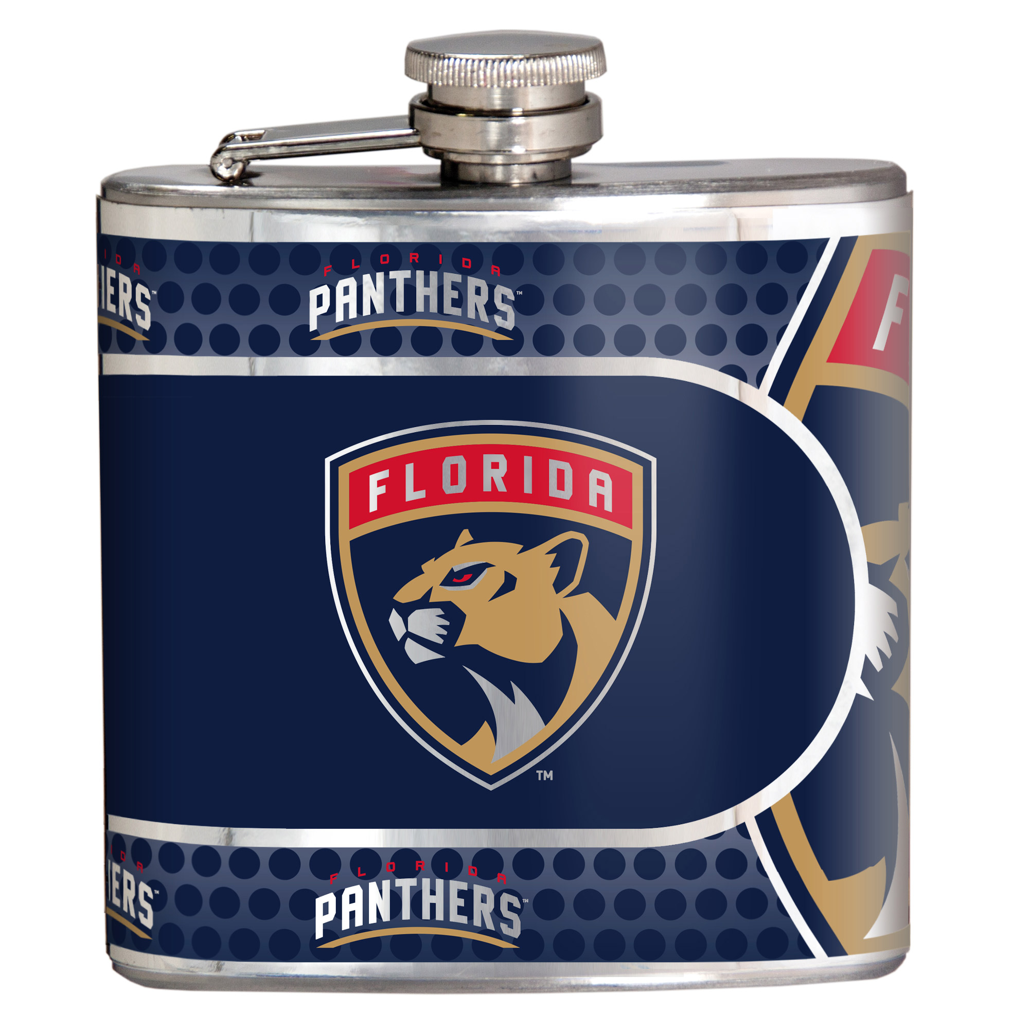 Florida Panthers 6oz. Stainless Steel Hip Flask - Silver - No Size