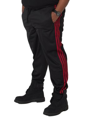 Vibes Big Mens Black Tricot Jogger Pants 4 Red Stripes Rib Bottom