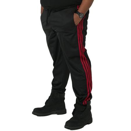 8884113c Vibes Big Mens Black Tricot Jogger Pants 4 Red Stripes Rib Bottom