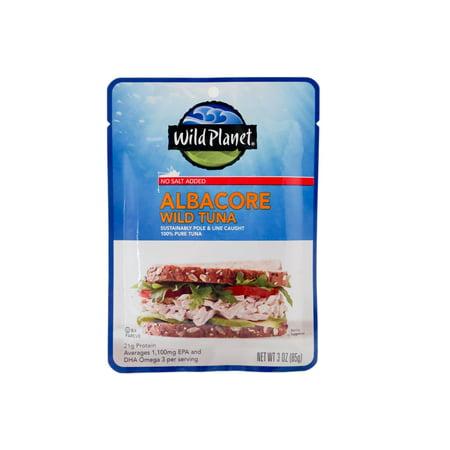 - Wild Planet Wild Albacore Tuna, No Salt Added, 3 oz Pouch
