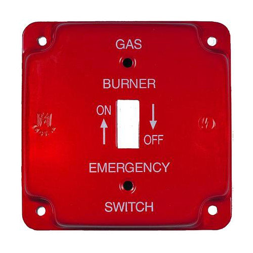 Emergency Metal Switch Plates 4in. Raised Oil