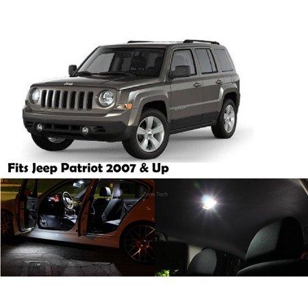 Zone Tech Jeep Patriot 2007 & up White LED Interior Kit 4 Pieces